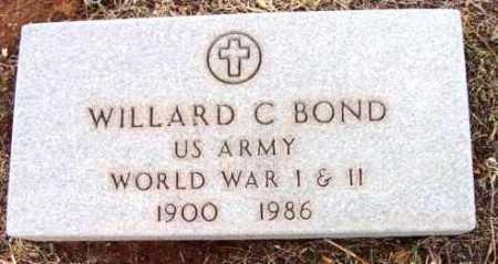BOND, WILLARD C. - Yavapai County, Arizona   WILLARD C. BOND - Arizona Gravestone Photos