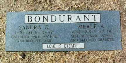 BONDURANT, SANDRA S. - Yavapai County, Arizona   SANDRA S. BONDURANT - Arizona Gravestone Photos