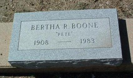 BOONE, BERTHA R. (PETE) - Yavapai County, Arizona | BERTHA R. (PETE) BOONE - Arizona Gravestone Photos