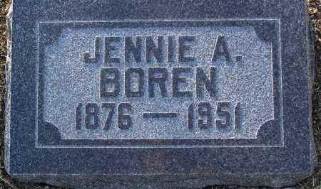 BOREN, JENNIE AGNES - Yavapai County, Arizona | JENNIE AGNES BOREN - Arizona Gravestone Photos