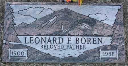 BOREN, LEONARD FITZGERALD - Yavapai County, Arizona   LEONARD FITZGERALD BOREN - Arizona Gravestone Photos
