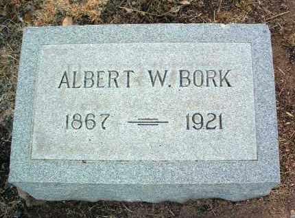 BORK, ALBERT WILLIAM, SR. - Yavapai County, Arizona | ALBERT WILLIAM, SR. BORK - Arizona Gravestone Photos