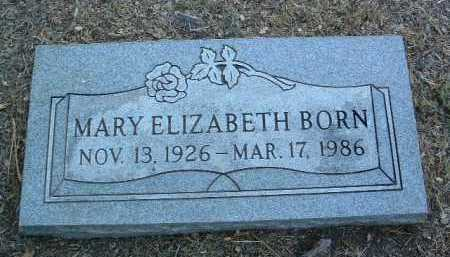 BORN, MARY ELIZABETH - Yavapai County, Arizona   MARY ELIZABETH BORN - Arizona Gravestone Photos