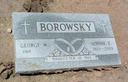 BOROWSKY, GEORGE W. - Yavapai County, Arizona | GEORGE W. BOROWSKY - Arizona Gravestone Photos
