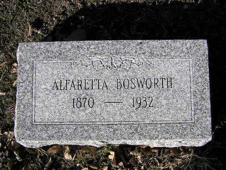 BOSWORTH, ALFARETTE - Yavapai County, Arizona | ALFARETTE BOSWORTH - Arizona Gravestone Photos