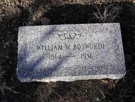 BOSWORTH, WILLIAM W. - Yavapai County, Arizona   WILLIAM W. BOSWORTH - Arizona Gravestone Photos