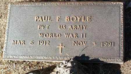 BOYLE, PAUL F. - Yavapai County, Arizona | PAUL F. BOYLE - Arizona Gravestone Photos