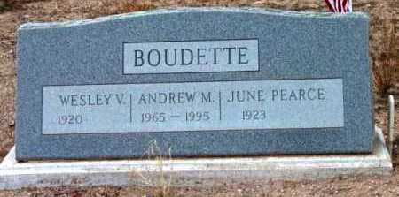 BOUDETTE, ANDREW RICHARD M. - Yavapai County, Arizona | ANDREW RICHARD M. BOUDETTE - Arizona Gravestone Photos