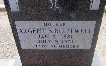 KNOWLS BOUTWELL, ARGENT B. (ARGIE) - Yavapai County, Arizona   ARGENT B. (ARGIE) KNOWLS BOUTWELL - Arizona Gravestone Photos