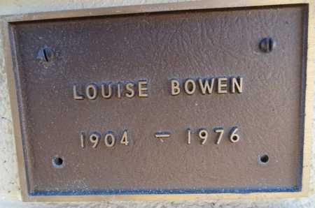 BOWEN, LOUISE - Yavapai County, Arizona | LOUISE BOWEN - Arizona Gravestone Photos