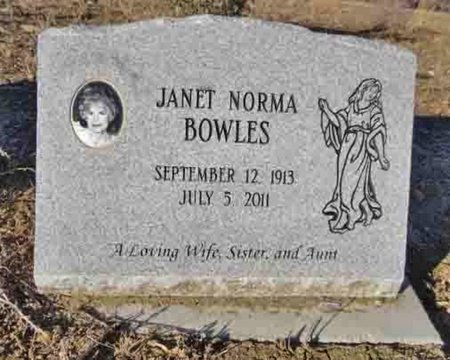 BOWLES, JANET NORMA - Yavapai County, Arizona | JANET NORMA BOWLES - Arizona Gravestone Photos