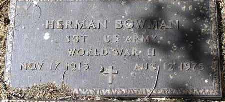 BOWMAN, HERMAN - Yavapai County, Arizona | HERMAN BOWMAN - Arizona Gravestone Photos