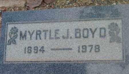 MICKLE BOYD, MYRTLE J. - Yavapai County, Arizona | MYRTLE J. MICKLE BOYD - Arizona Gravestone Photos