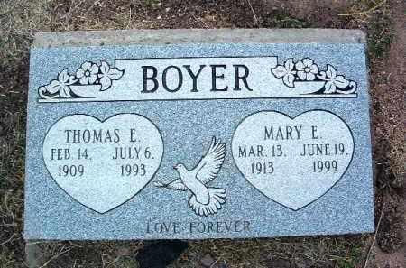 BOYER, MARY ELLEN - Yavapai County, Arizona   MARY ELLEN BOYER - Arizona Gravestone Photos