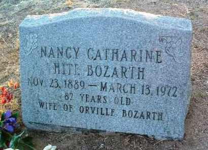 HITE BOZARTH, NANCY CATHERINE - Yavapai County, Arizona | NANCY CATHERINE HITE BOZARTH - Arizona Gravestone Photos