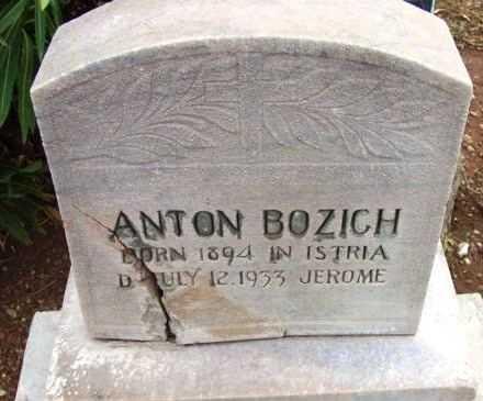 BOZICH, ANTON - Yavapai County, Arizona | ANTON BOZICH - Arizona Gravestone Photos