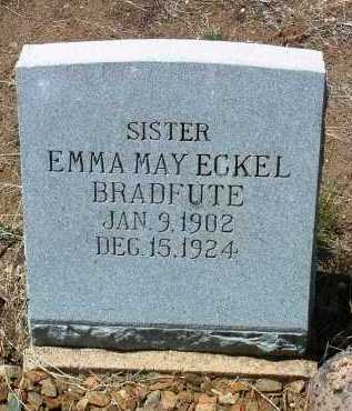 ECKEL BRADFUTE, EMMA - Yavapai County, Arizona | EMMA ECKEL BRADFUTE - Arizona Gravestone Photos