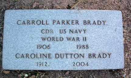 BRADY, CARROLL PARKER - Yavapai County, Arizona   CARROLL PARKER BRADY - Arizona Gravestone Photos