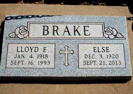 BRAKE, LLOYD F. - Yavapai County, Arizona   LLOYD F. BRAKE - Arizona Gravestone Photos