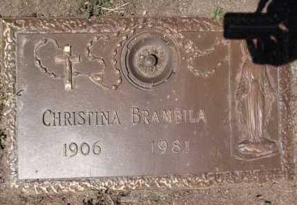 BRAMBILA, CHRISTINA - Yavapai County, Arizona | CHRISTINA BRAMBILA - Arizona Gravestone Photos