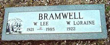 BRAMWELL, W. LORAINE - Yavapai County, Arizona | W. LORAINE BRAMWELL - Arizona Gravestone Photos
