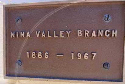 BRANCH, NINA VALLEY - Yavapai County, Arizona | NINA VALLEY BRANCH - Arizona Gravestone Photos