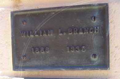 BRANCH, WILLIAM LEWIS - Yavapai County, Arizona | WILLIAM LEWIS BRANCH - Arizona Gravestone Photos