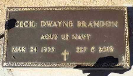 BRANDON, CECIL DWAYNE - Yavapai County, Arizona | CECIL DWAYNE BRANDON - Arizona Gravestone Photos