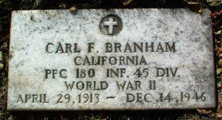 BRANHAM, CARL F. - Yavapai County, Arizona   CARL F. BRANHAM - Arizona Gravestone Photos
