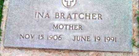BRATCHER, INA - Yavapai County, Arizona   INA BRATCHER - Arizona Gravestone Photos