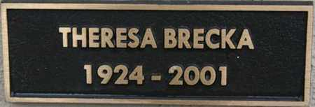 BRECKA, THERESA - Yavapai County, Arizona | THERESA BRECKA - Arizona Gravestone Photos