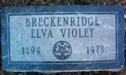BRECKENRIDGE, ELVA VIOLET - Yavapai County, Arizona | ELVA VIOLET BRECKENRIDGE - Arizona Gravestone Photos