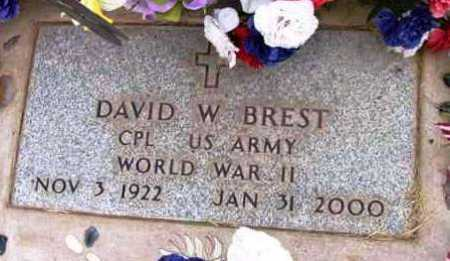 BREST, DAVID W. - Yavapai County, Arizona | DAVID W. BREST - Arizona Gravestone Photos