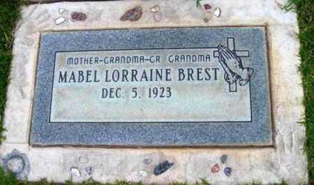 BREST, MABEL LORRAINE - Yavapai County, Arizona | MABEL LORRAINE BREST - Arizona Gravestone Photos