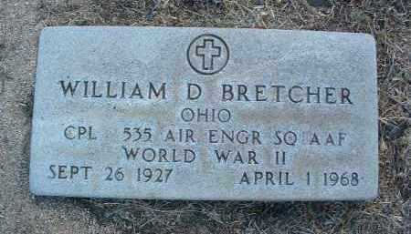 BRETCHER, WILLIAM D. - Yavapai County, Arizona | WILLIAM D. BRETCHER - Arizona Gravestone Photos