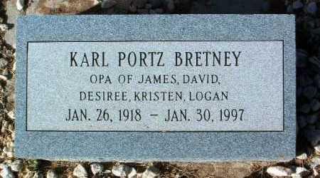 BRETNEY, KARL PORTZ - Yavapai County, Arizona | KARL PORTZ BRETNEY - Arizona Gravestone Photos