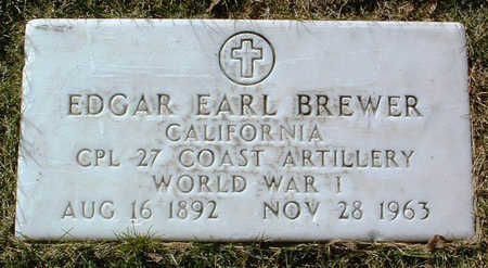 BREWER, EDGAR EARL - Yavapai County, Arizona | EDGAR EARL BREWER - Arizona Gravestone Photos