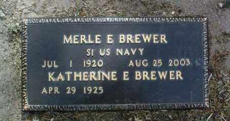 BREWER, MERLE E. - Yavapai County, Arizona | MERLE E. BREWER - Arizona Gravestone Photos