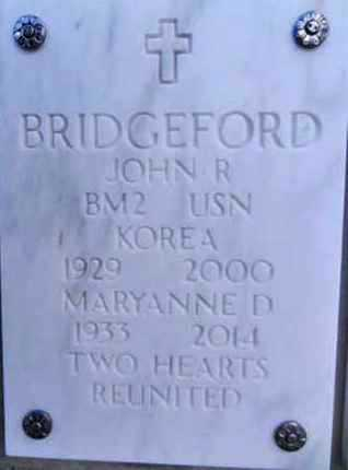 BRIDGEFORD, MARYANNE D. - Yavapai County, Arizona | MARYANNE D. BRIDGEFORD - Arizona Gravestone Photos