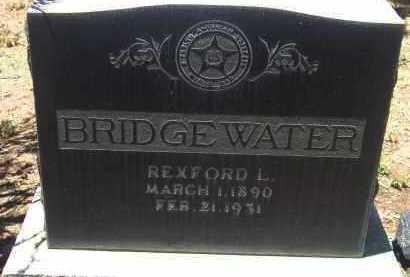 BRIDGEWATER, REXFORD L. - Yavapai County, Arizona | REXFORD L. BRIDGEWATER - Arizona Gravestone Photos