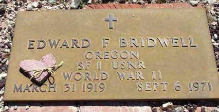 BRIDWELL, EDWARD F. - Yavapai County, Arizona   EDWARD F. BRIDWELL - Arizona Gravestone Photos