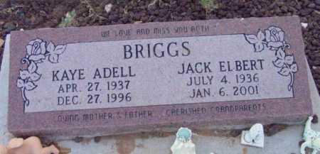 BRIGGS, JACK ELBERT - Yavapai County, Arizona | JACK ELBERT BRIGGS - Arizona Gravestone Photos