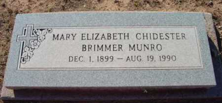 MUNRO, MARY ELIZABETH - Yavapai County, Arizona | MARY ELIZABETH MUNRO - Arizona Gravestone Photos
