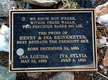 BRINKMEYER, INA LOUISE - Yavapai County, Arizona | INA LOUISE BRINKMEYER - Arizona Gravestone Photos