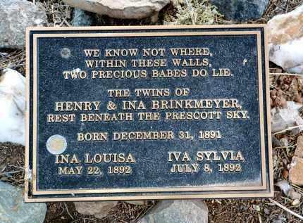 BRINKMEYER, IVA SYLVIA - Yavapai County, Arizona   IVA SYLVIA BRINKMEYER - Arizona Gravestone Photos