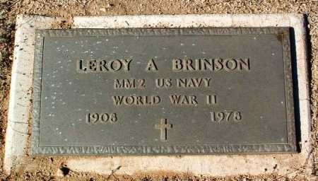 BRINSON, LEROY A. - Yavapai County, Arizona | LEROY A. BRINSON - Arizona Gravestone Photos