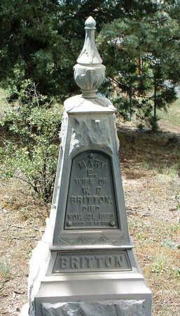 BRITTON, MARY ELIZABETH - Yavapai County, Arizona   MARY ELIZABETH BRITTON - Arizona Gravestone Photos