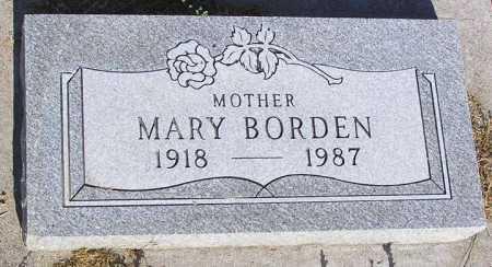BORDEN, MARY - Yavapai County, Arizona | MARY BORDEN - Arizona Gravestone Photos