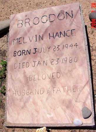 BROGDON, MELVIN HANCE - Yavapai County, Arizona | MELVIN HANCE BROGDON - Arizona Gravestone Photos