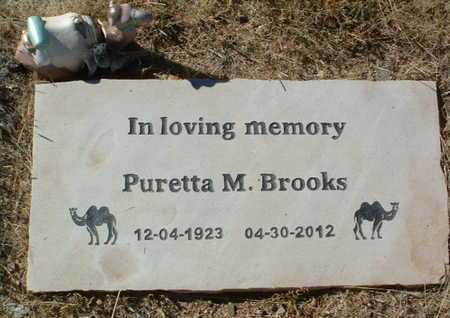 BROOKS, PURETTA M. - Yavapai County, Arizona | PURETTA M. BROOKS - Arizona Gravestone Photos